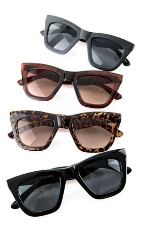 狂热标准全 - 黑框太阳镜/墨镜