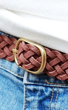 麻花型编织腰带