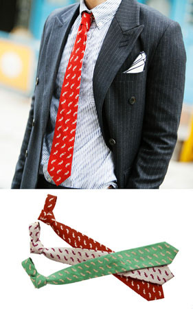 吹队列领带