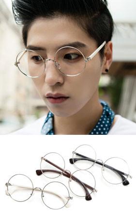 柔丝圆领眼镜