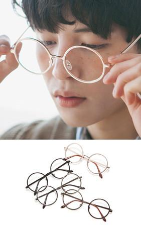 大胆钢圆眼镜