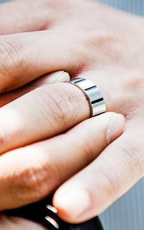 STE线条戒指