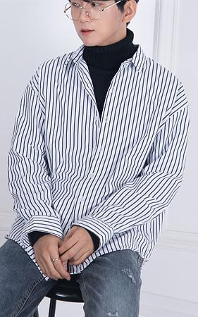 哈立德条纹宽松款衬衫