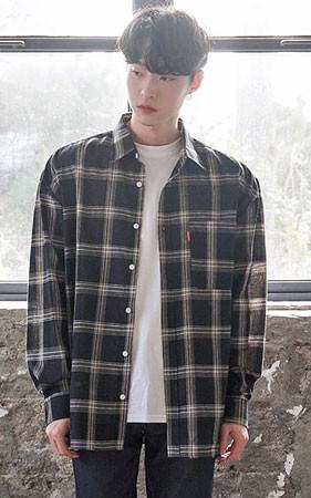 2018春季男装科迪<br>哦巴菲特每日图案格子衬衫