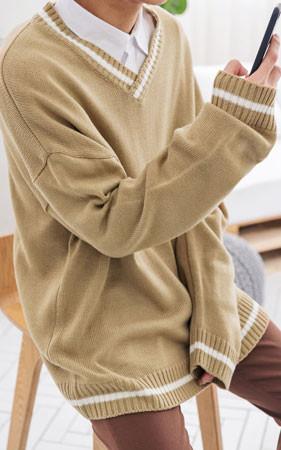 春天协作集合]宽松款V领+衬衫