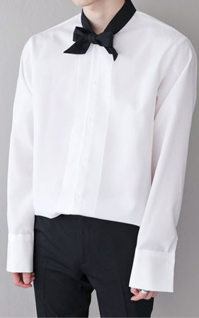 独特的颜色的领带衬衫