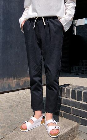 Rusk基本弯曲的裤子