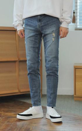 复古/古古水洗cuttin jean