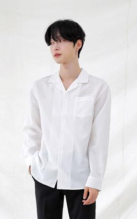 黑色n白色开放kara衬衫
