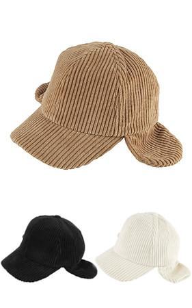 灯芯绒帽子耳罩