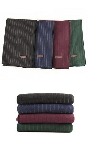 缝条纹巾巾