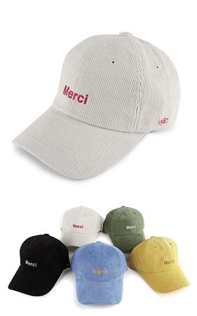 Merci灯芯绒帽子帽子