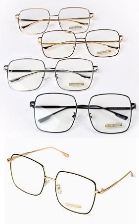 灵活的方形眼镜