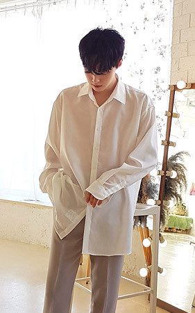 玉宽松款基本衬衫