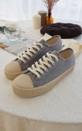 3厘米增高鞋蜡烛侣胶底帆布