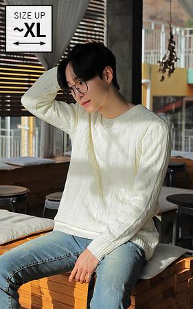 22颜色基本的麻花型针织衫