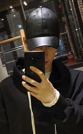 皮革平纹帽