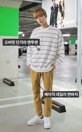 [协调套装] Dangara运动衫+基本日常棉裤