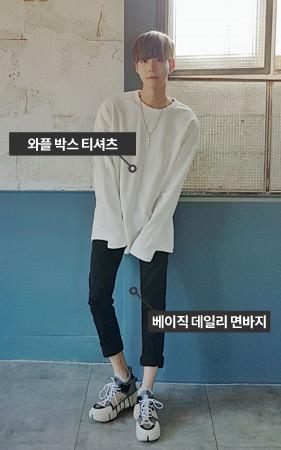 [协调套装]重棉T恤衫+日常棉裤