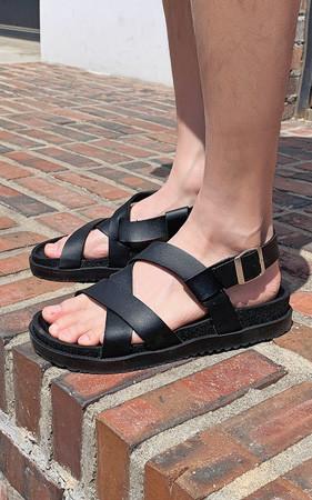 六斗士鞋皮条/束带凉鞋