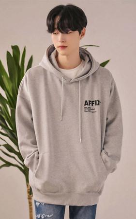 AFFIX绒盒坑带帽T恤