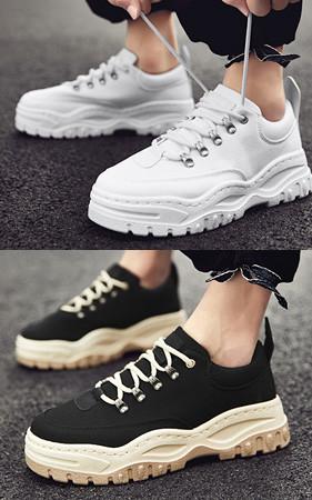 <b>早鸟预售50%</b> <br> Cm高鞋4.5cm低胶底帆布鞋