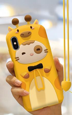 长颈鹿猫iphone盒子