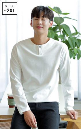 <b>天然纤维织物的特殊加工方法<br>推荐好长袖茶</b> <br> Fine One Button短袖T恤衫