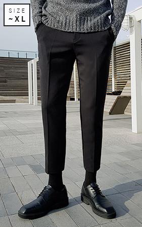 基本的双松紧带宽松长裤