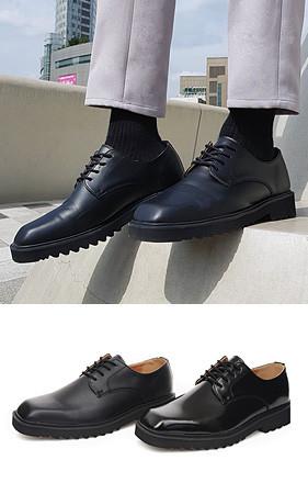 厘米高鞋5厘米方头黑色鞋