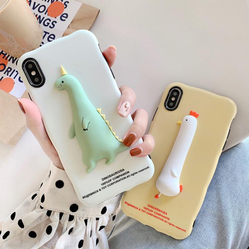 Dino&Chicken iPhone手机壳