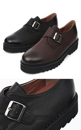 腰带和尚皮条/束带鞋