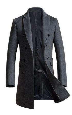 泰勒双排扣衣子大衣