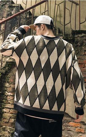 方型宽松款针织衫