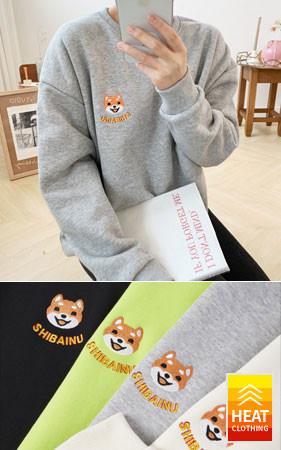 Shiba关键点宽松款加绒运动衫<br>购买1 + 1可获得2,000韩元的额外折扣
