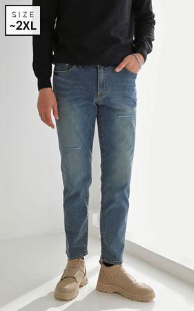 普通洗二手牛仔裤
