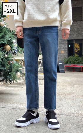 未加工的直牛仔裤