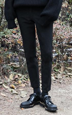 基本羊毛宽松长裤