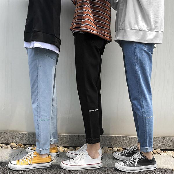 早鸟预售40% <br>刻字切割牛仔裤