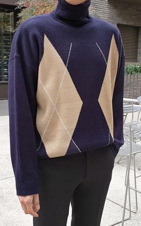 Argyle Check Pola针织衫