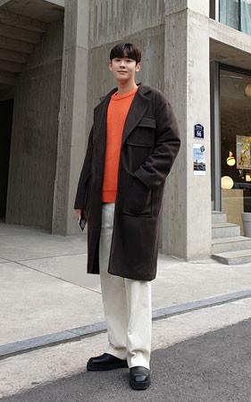Pocket羊毛宽松款款呢子大衣