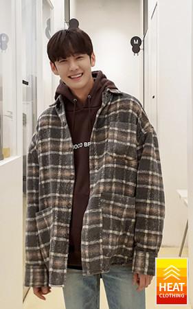 舒适格纹夹克