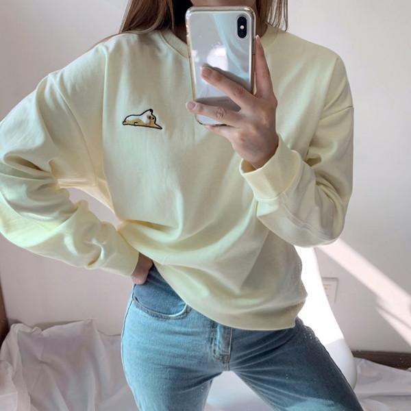 Welsh Corgi宽松款加绒运动衫<br>购买1 + 1可获得2,000韩元的额外折扣