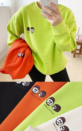 Leon Matilda宽松款加绒运动衫<br>购买1 + 1可获得2,000韩元的额外折扣