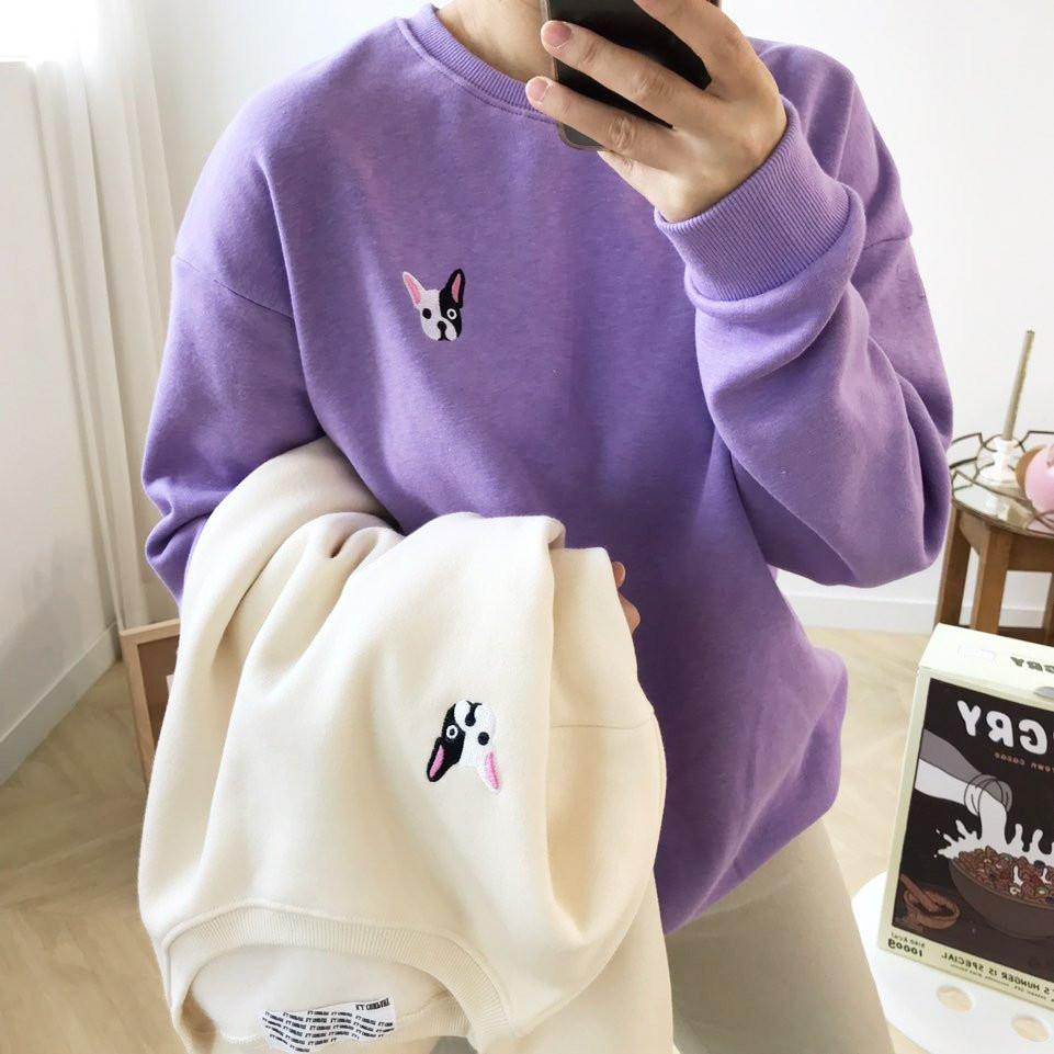 法国斗牛犬宽松款加绒运动衫<br>购买1 + 1可获得2,000韩元的额外折扣
