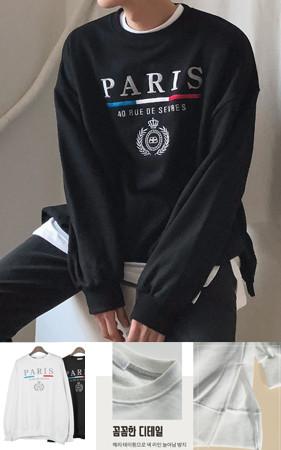 Paris刺绣宽松款运动衫