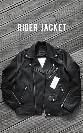 标准皮革骑士夹克