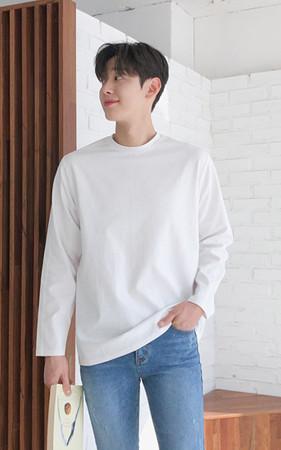 缝每日长袖T恤衫