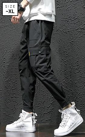 皮条/束带工装裤Jogger短裤