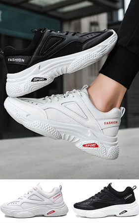 预购预售50% <br> 4cm增高鞋运动Ugly胶底帆布鞋